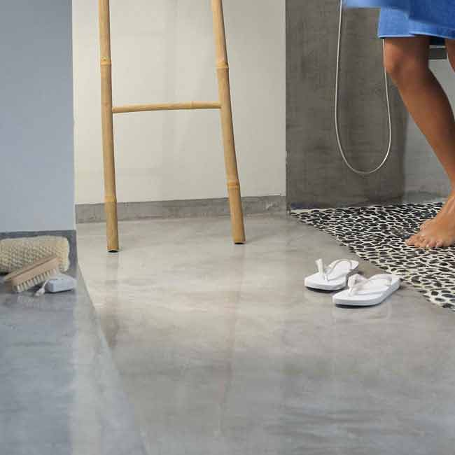 Microcemento per pavimenti interni pavimenti moderni - Piastrelle senza fuga ...